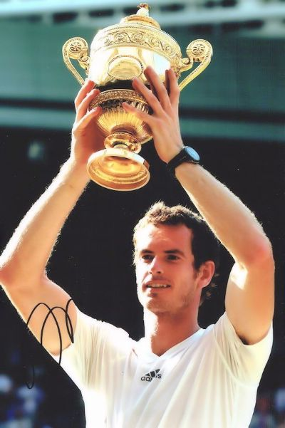 Andy Murray Autograph Photo Signed Wimbledon For Sale